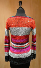 Manish Arora Mini Paillette Sequined Long Sleeve Top