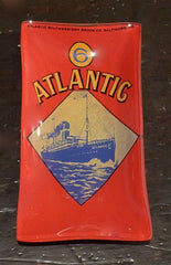 "Two's Company Vintage Labels Glass Dish ""ATLANTIC"""