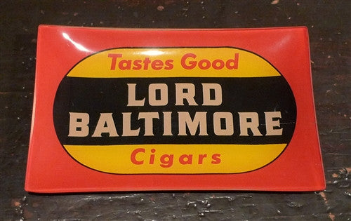"Two's Company Vintage Labels Glass Dish ""LORD BALTIMORE"""