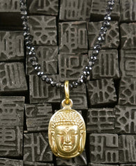 Lazaro Buddha Black Spinel Necklace