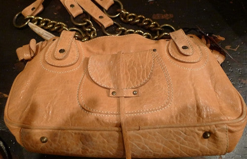 Malini Murjani Leather Shoulderbag with Chain Link Straps