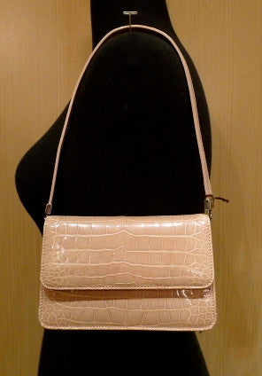 Lai Alligator Handbag in Cream