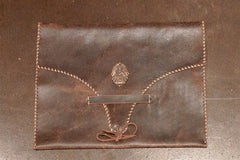 David Winter Leather iPad Case with Sterling Silver Adornment