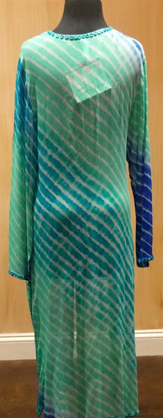 Graham Kandiah Quintana Ocean V-Neck Tie Cover Up