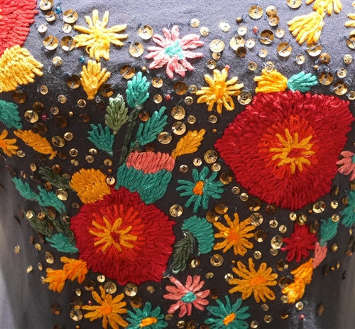 Common Thread Embroidered Flower Tank Top