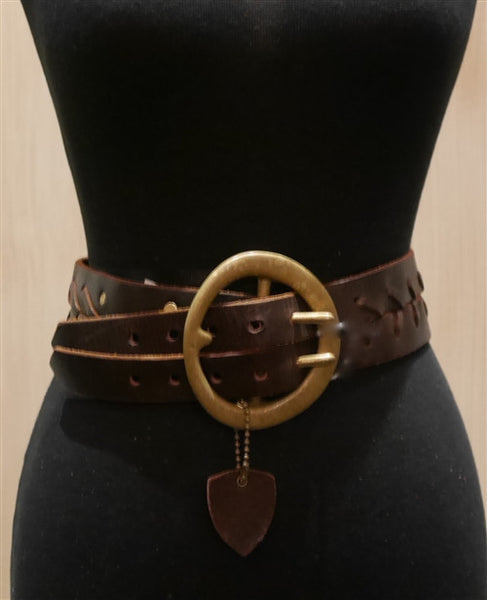 Hollywood Trading Company Double Braided Brown Belt