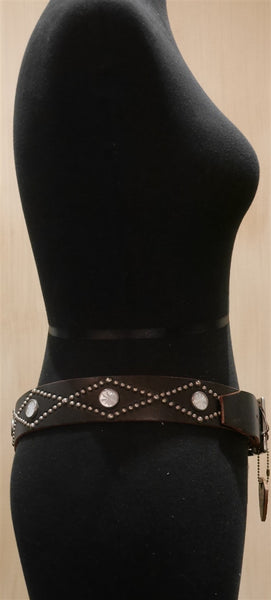 Hollywood Trading Company Leather Stud Belt