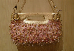 Rafe Beaded Purse in Pink and Gold