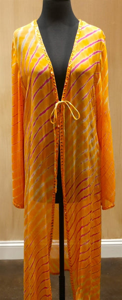 Graham Kandiah Quintana Sunset V-Neck Tie Swim Cover Up