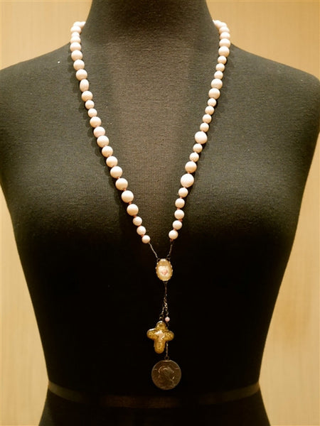 Kimmie Winter Pink Beaded Rosary