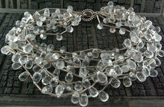 Churchill Private Label Faceted Quartz and Sterling Silver Torsade Necklace