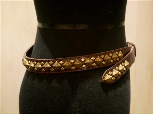 "B-Low The Belt ""Monte Carlo"" Brown Studded Belt"