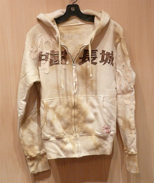 Great China Wall Cream Hoodie Sweatshirt