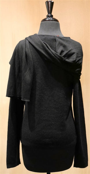 Armand Diradourian Cashmere Sweater with Scarf Wrap