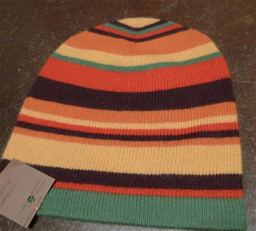 Armand Diradourian Cashmere Striped Beanie/Hat