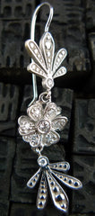 Jamie Wolf Diamond Clover Flower Earrings in 18K White Gold