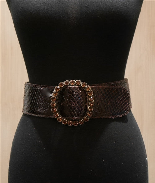 Clara Kasavina Deep Plum Wide Belt