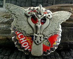 Sweetbird WInged Angel Sterling Silver Belt Buckle