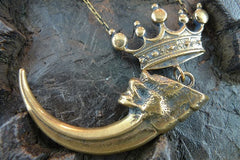 Crown Bear Claw Necklace