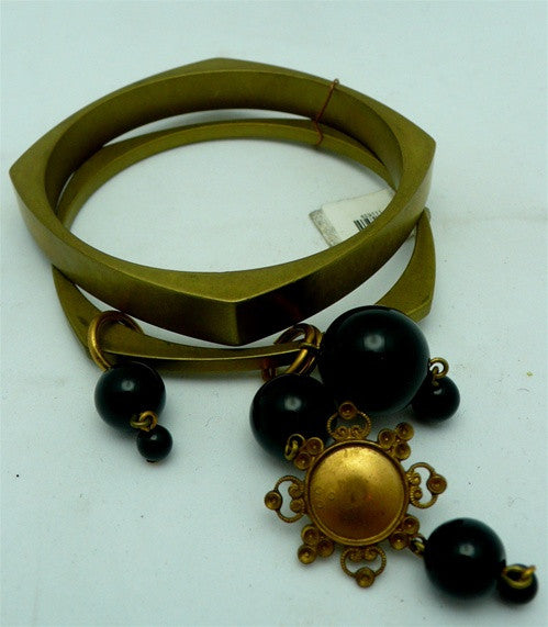 Turn Vintage Brass Bracelets