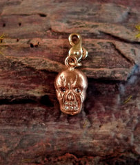 Julez Bryant 14K Rose Gold and Diamond Skull Charm