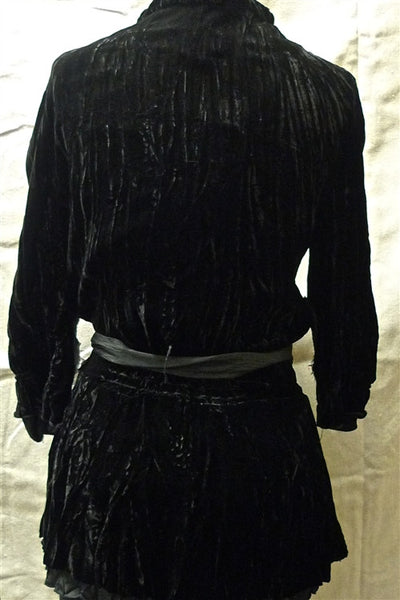 Jarbo Silk Velvet Jarbo Jacket with Tie Belt