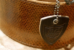 Hollywood Trading Company Wide Brown Leather Belt