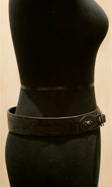 Hollywood Trading Company Double Buckle Black Belt