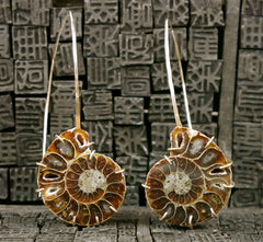Melissa Joy Manning 14K Yellow Gold Ammonite Earrings