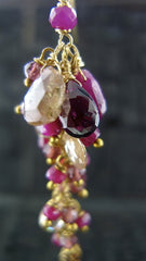 Alexis Bittar Ruby Long Cluster Earrings