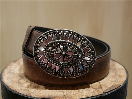 Mika Sarolea Taj Mahal Crystal Round Brown Belt