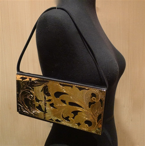 Shana of London Flat Floral Laser Cut Clutch