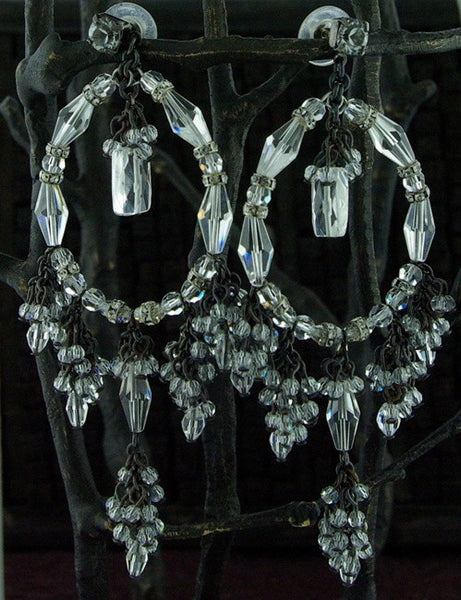 Erickson Beamon Crystal Chandelier Earrings