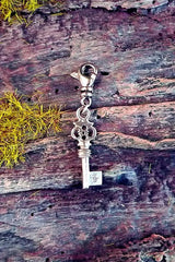 Julez Bryant Skeleton Key Diamond Charm in 14K White Gold