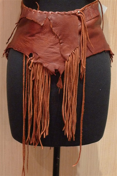 Battledress Fringed Deerskin Leather Belt