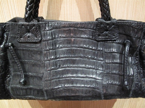 Carlos Falchi Caiman Crocodile Baby Doctors Bag