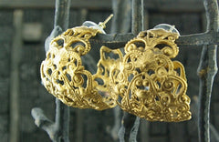 Virgins, Saints & Angels  Antigua Hoops in Gold Finish