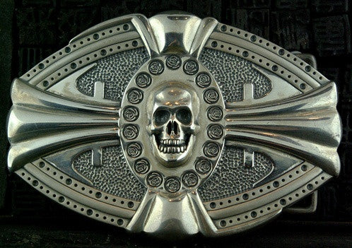 D & A Sterling Silver Skull Buckle