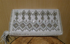 Buba ZigZag Embroidered Wallet/Clutch with Crystals