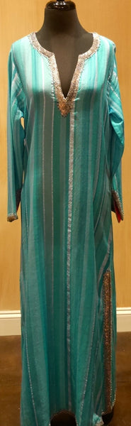 Armand Diradourian Woven Silk and Cashmere Jeweled Caftan