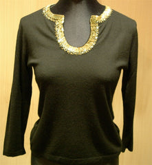 Armand Diradourian Cashmere Embellished Sweater