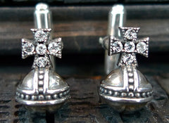 Corpus Christi Orb with Cross Cufflinks
