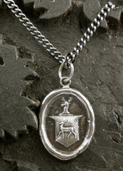 Pyrrha Stag's Crest  Sterling Silver Necklace