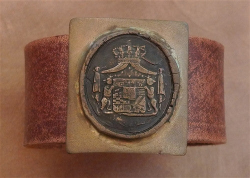 Pyrrha Bronze Frederic Leather Cuff/ Bracelet