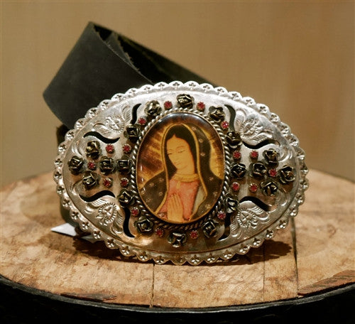 Virgin Saints and Angels Goddess Grande Silver Buckle Belt