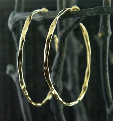 Danielle Pittman 14K Yellow Gold Diamond Hoop Earrings