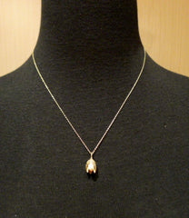 Danielle Pittman Diamond Hickory Nut Pendant Necklace in 14K Yellow Gold
