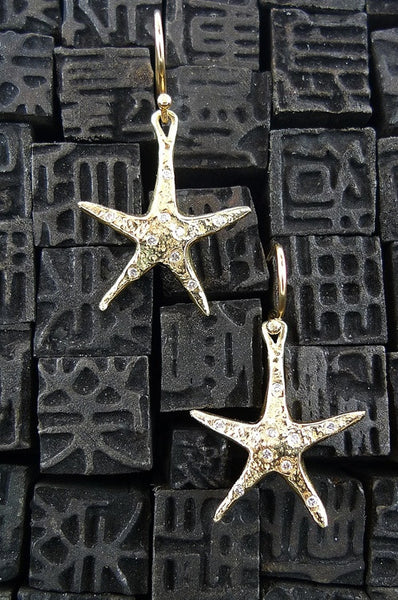 Danielle Pittman 14K Yellow Gold and Diamond Sea Star Earrings