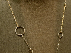 Rebekah Brooks Circle Link Chain Vermeil Necklace