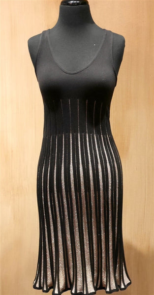 Vivia Woven Black Tank Dress